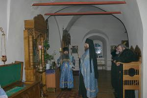 """Икона """"Игумения Горы Афонской""""; Лукианова пустынь"""
